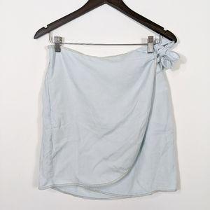 1250°C Tencel Wrap Front Mini Skirt Large NWT